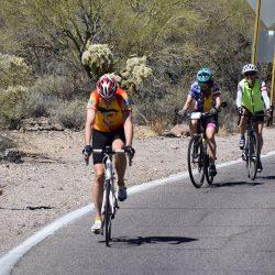 bikers on a desert road