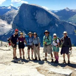 View of Half Dome from the top of El Capitan in Yosemite National Park